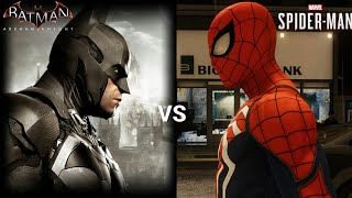 Marvel Spider-Man PS4 VS Batman Arkham knight Gameplay Comparison