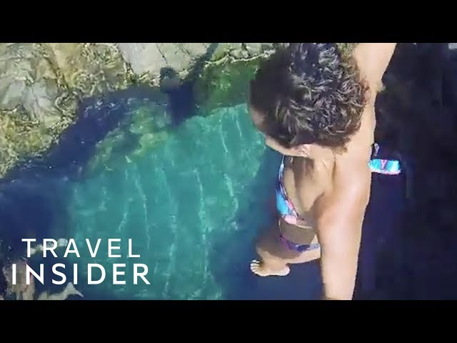 Jump Into Brazils Small Rock Pool For Crystal Clear Water
