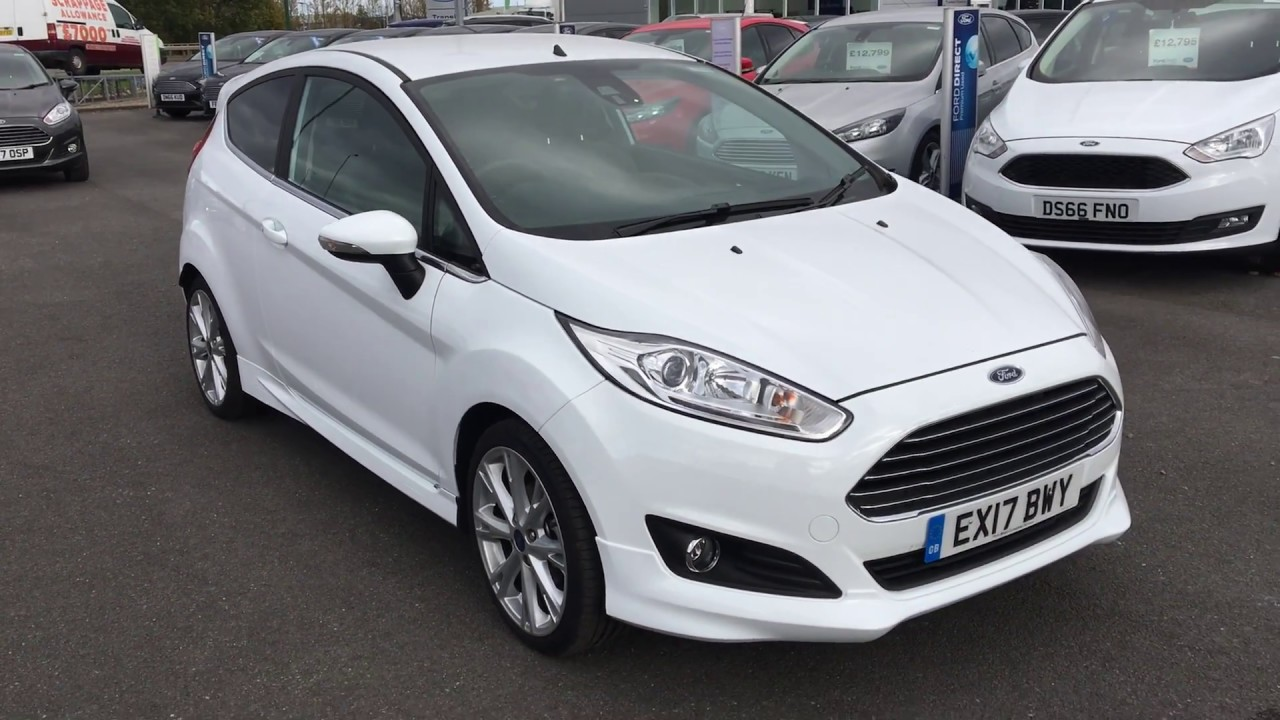 used ford fiesta 1 5 tdci titanium x 3dr frozen white 2017 youtube. Black Bedroom Furniture Sets. Home Design Ideas