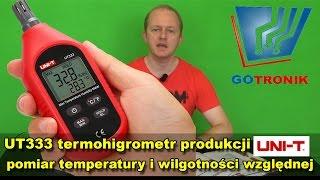 UT333 termohigrometr pomiar temperatury i wilgotności względnej powietrza