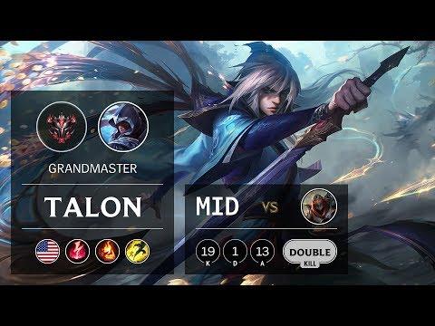 Talon Mid vs Zed - NA Grandmaster Patch 9.9