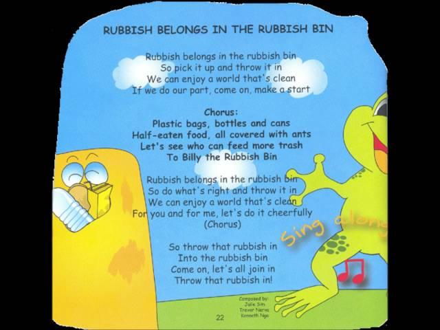 Rubbish belongs to the rubbish bin