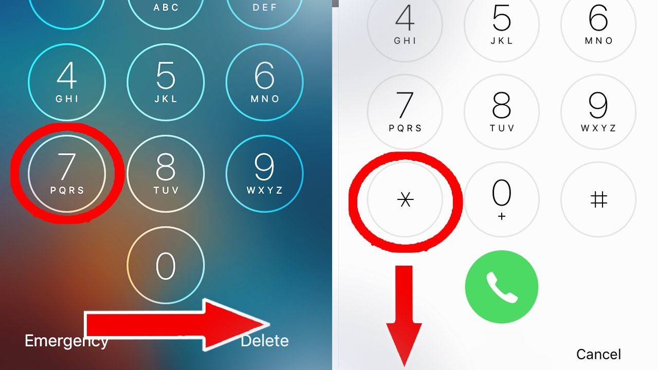 how to unlock a iphone security code