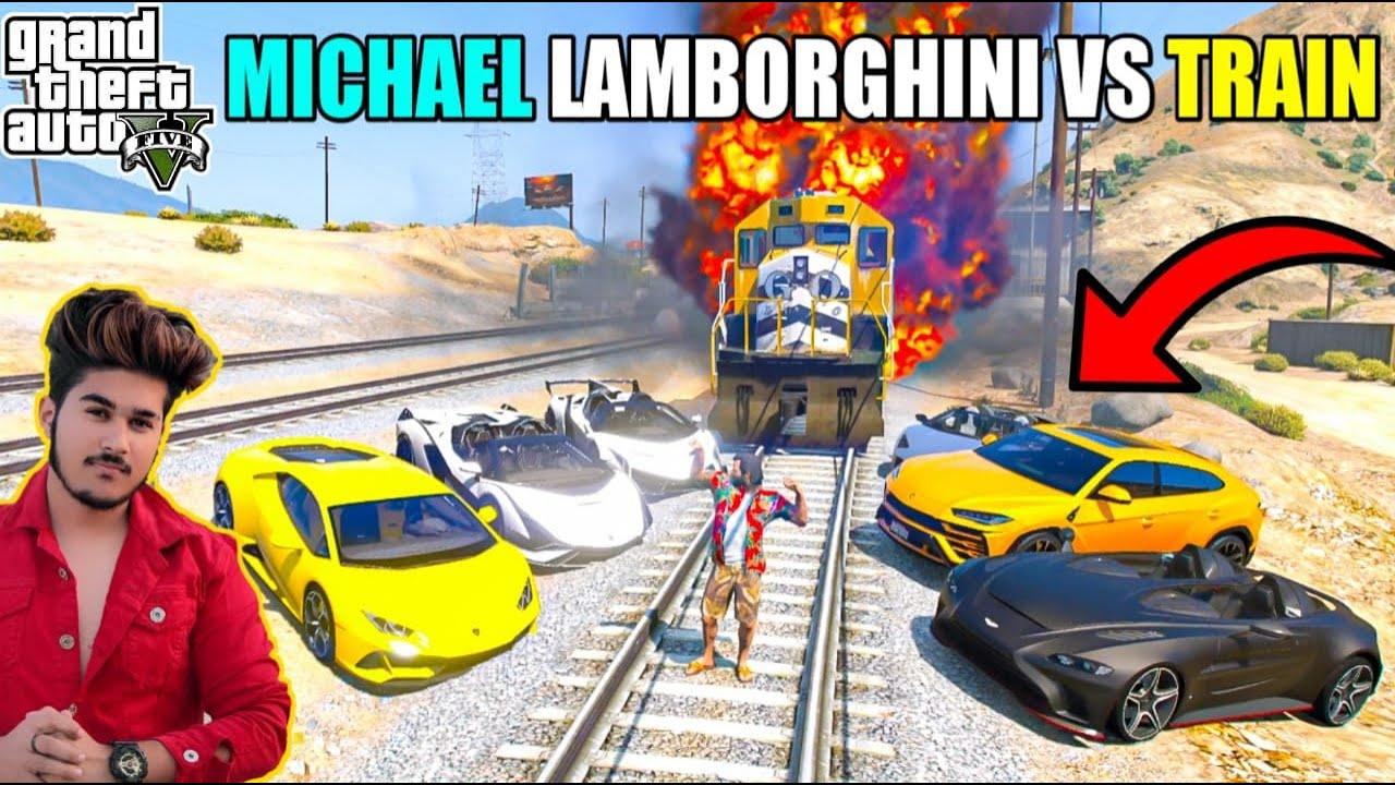 GTA 5 : MICHAEL LAMBORGHINI VS LOS SANTOS TRIAN MOVIE SHOOTING | GTA 5 GAMEPLAY 🔥