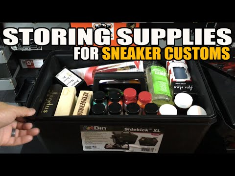 How I Store Supplies For Sneaker Customs (New Art Supply Bin)