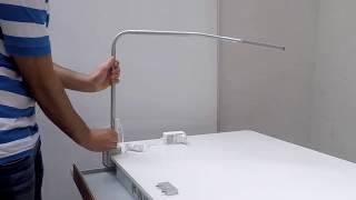 Описание крепления светильника FlexLight к столу moll T7