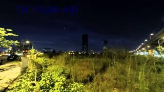 (縮時攝影)三重區興德路群光電子總部大樓夕陽
