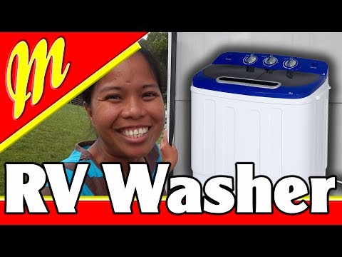 RV Washer UNDER $100 /  Portable Compact Mini Twin Tub Washing Machine $99.00
