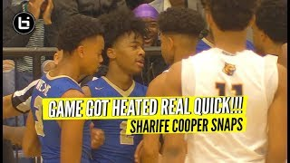 Don't Talk Trash To Sharife Cooper! Heated Game
