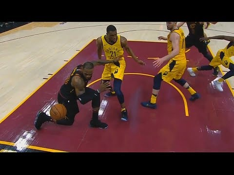 NBA Refs Are Blind and Miss Calls in Cavaliers vs Pacers Game 5 But LeBron Still Hits Game Winner!