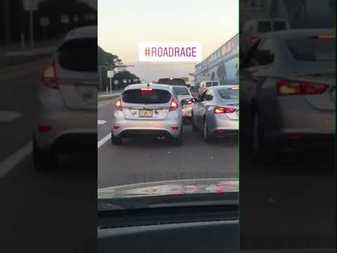Road rage on the mid bay bridge in Destin Florida