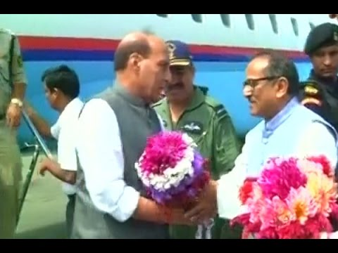 Home Minister Rajnath Singh arrives in Srinagar for a 2-day visit