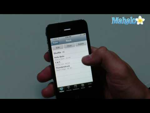 How to create playlists on the iPhone 4