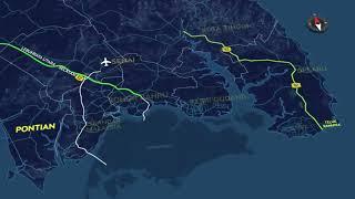 PROJEK MENAIKTARAF E22 SENAI - DESARU (Persimpangan Cahaya Baru - Persimpangan Penawar)