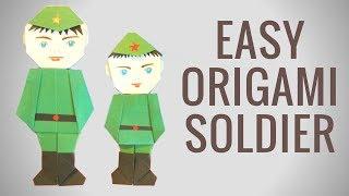 Download Солдат оригами к 23 февраля. День защитника отечества - Hand made Mp3 and Videos
