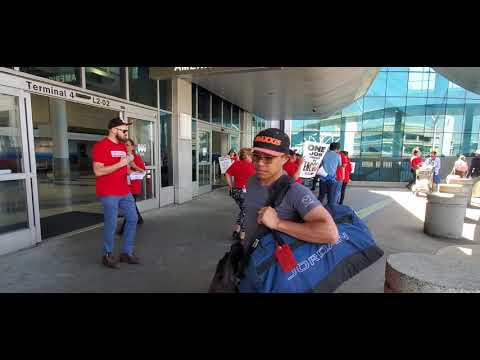 Airport Strike Alert At Lax Food Workers American Airlines