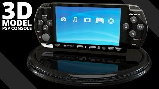 Sony PSP Console 3D Model | Tlatso-Son