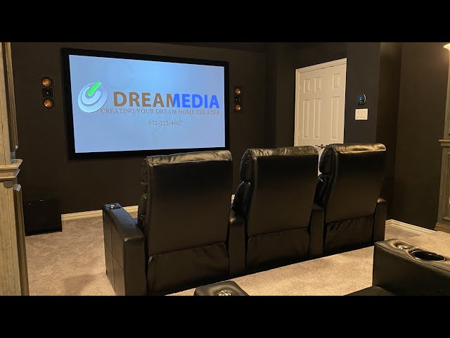 5.1.2 Klipsch Dolby Atmos w: JVC RS1000 Native 4K Projection Home Theater Tour