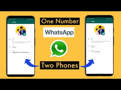 How to use whatsapp acount on two phones without whatsapp web