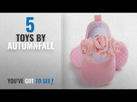 Top 10 Autumnfall Toys [2018]: AutumnFall Newborn Baby Girls' Premium Soft Sole Infant Prewalker