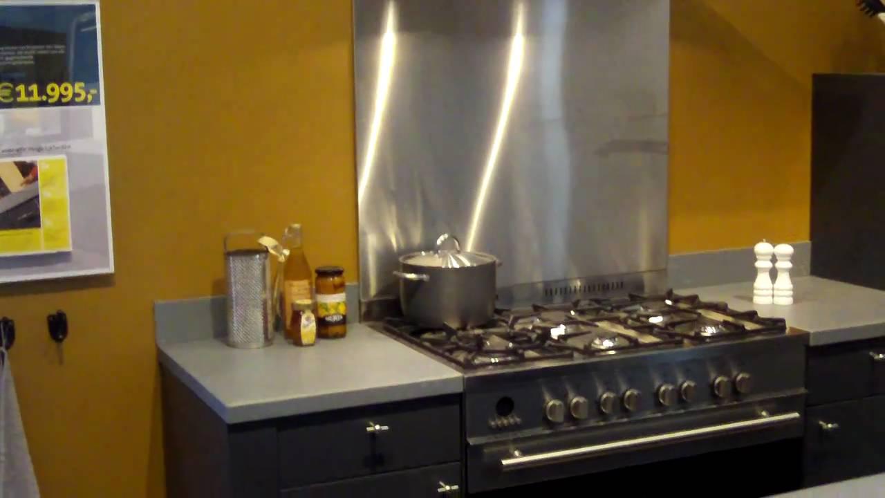 RVS keuken achterwanden - YouTube