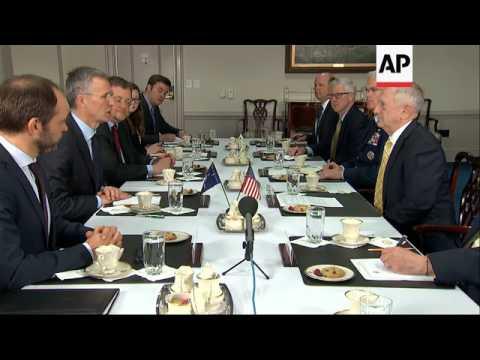 Mattis Welcomes Visiting NATO Secretary General