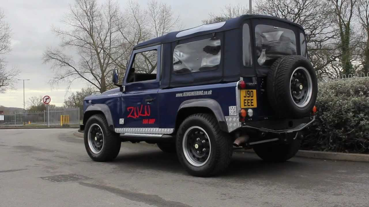 INSANE 500bhp V8 Supercharged Land Rover Zulu Defender from JE Engineering - YouTube