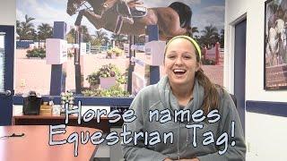 Horse Names Equestrian Tag - SmartPaker Nina