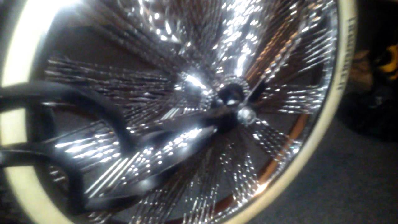 New Twisted Spokes For My Lowrider Bike Wheels Youtube