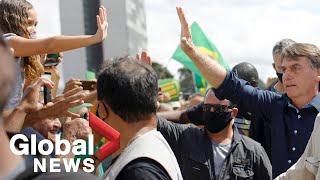 Bolsonaro mingles with anti-lockdown protesters as Brazil becomes world's No. 2 coronavirus hotspot