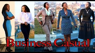 LOOKBOOK  5 BUSINESS CASUAL OUTFITS! Thumbnail