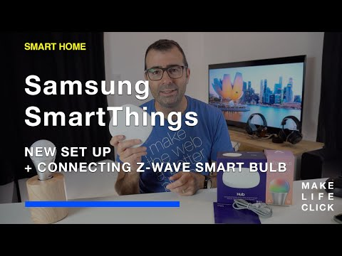 Samsung SmartThings Hub Set Up and Connecting a Z-Wave Light Bulb