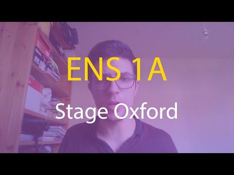 ENS Ulm 1A - Stage à Oxford - Mes études #3.6