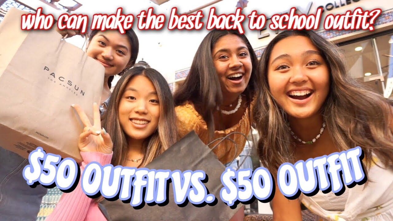 [VIDEO] - $50 BACK TO SCHOOL OUTFIT CHALLENGE : WHICH IS BETTER? 8