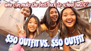 $50 BACK TO SCHOOL OUTFIT CHALLENGE : WHICH IS BETTER?