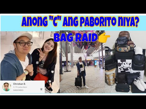 """BAG RAID Kay Christian B. Ano Kaya Ang """"C"""" Na Nakita Sa Bag Nya? /Mall Of Arabia"""