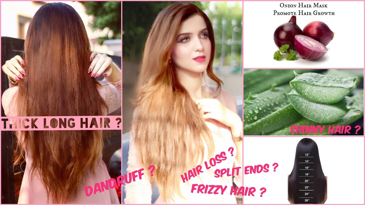 How to Grow long thick hair | Onion Juice Aloe vera Vitamin E | NO split ends Dandruff Haircare pt 1