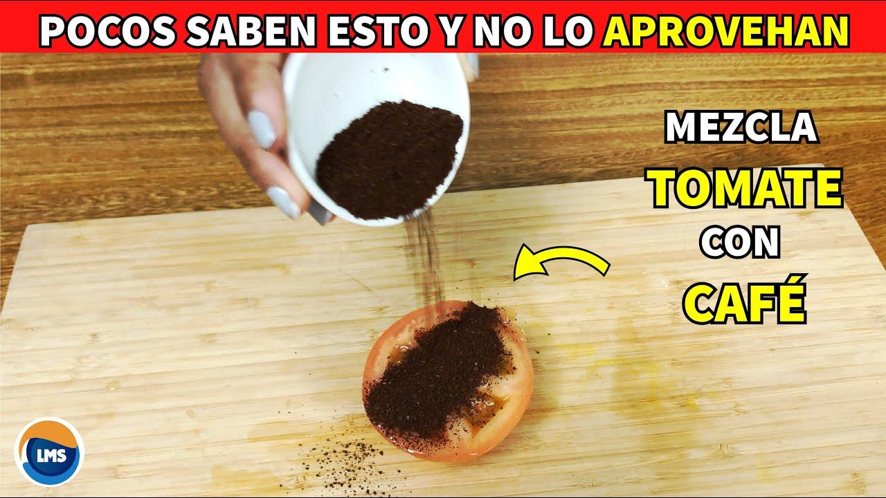 Esto es lo que sucede cuando Frotas TOMATE con CAFÉ en esta parte del cuerpo - Solución Definitiva