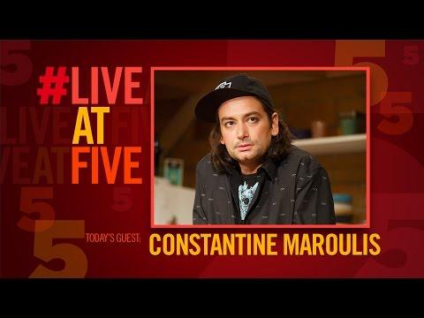 Broadway.com #LiveatFive with FRIEND ART's Constantine Maroulis