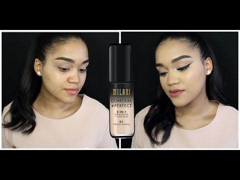 MILANI CONCEAL+PERFECT 2-1 FOUNDATION- FIRST IMPRESSION - 동영상