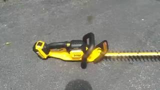 DeWalt 20v Max Hedge Trimmer Review (Thick Brush)