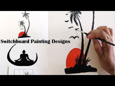 Amazing Switchboard Design Ideas With Acrylic Color I Home Decor I Part 2 Youtube