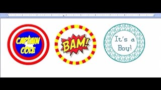 How To Make Cupcake Toppers and circular gift tags with MS Word(This is the second tutorial on using MS Word to create cup cake toppers and circular gift tags. New techniques are outlined in this video such as layering shapes, ..., 2014-04-16T21:59:59.000Z)