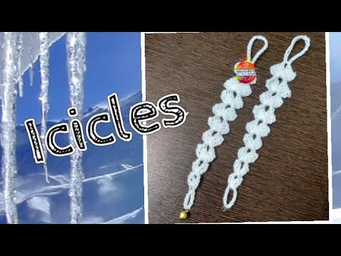 How to crochet beautiful, easy and quick Icicles for Christmas decorations? #icicles #christmasdecor