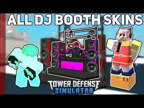 All DJ Booth Skins | Tower Defense Simulator