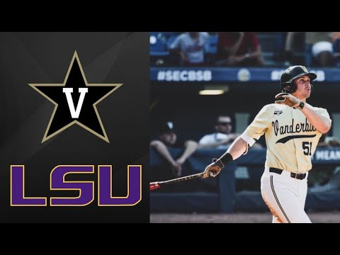 #2 Vanderbilt Vs #17 LSU SEC Tournament Semifinal | College Baseball Highlights
