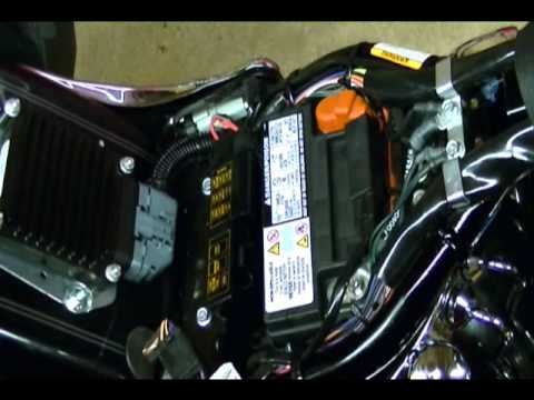 hqdefault motorcycle repair how to replace a battery on a harley davidson  at nearapp.co