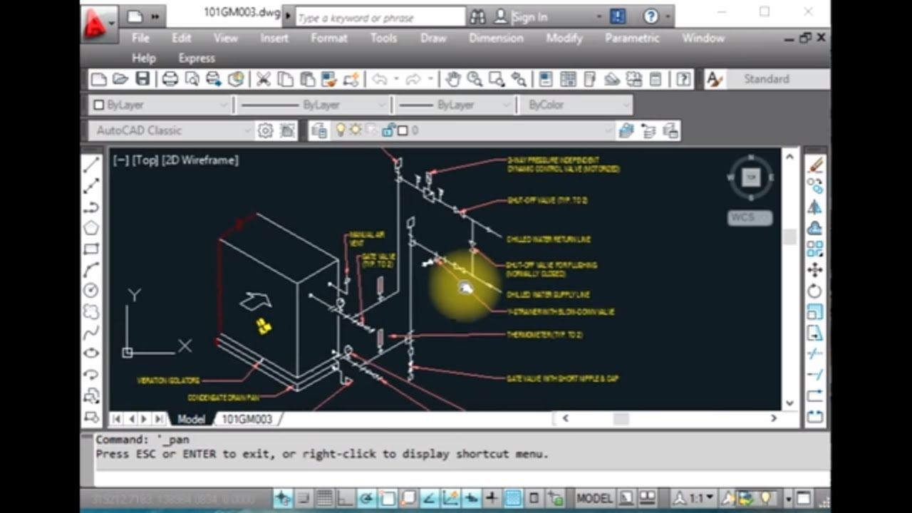 Air System Schematic Hvac Ahu Valve Connection Details Youtube