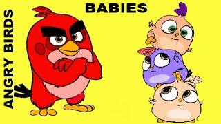 PINTAR ANGRY BIRDS BABIES Red bird de la pelicula angry birds / SORPRESAS SILVIA