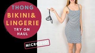 Thong bikini and lingerie Try on haul Microgigi | Nuevos bikinis y tangas
